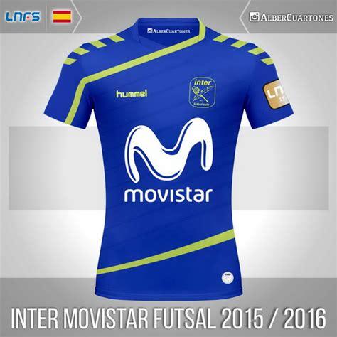 Tshirt Futsal inter movistar futsal 2015 2016 home shirt