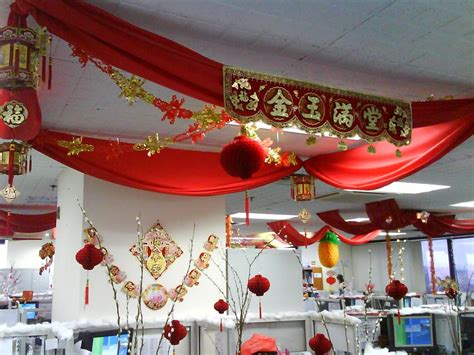 new year decorations office goes on cny decoration at my office