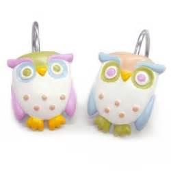 Owl Shower Curtain Hooks by Owl Shower Shower Curtain Hooks And Shower Curtains On