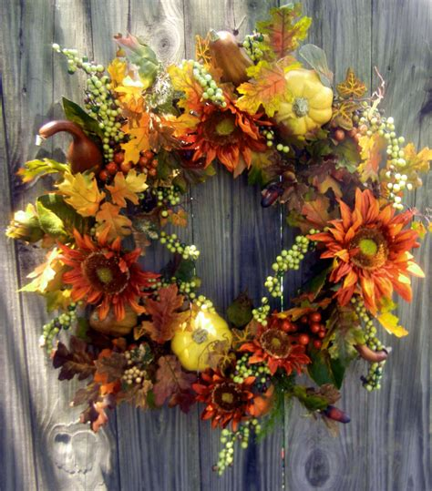 autumn wreaths fall wreath for the door autumn wreath pumpkin by forevermore1