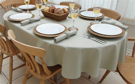 Oval Table Cloth by Cotton Collection Oval The Tablecloth Company
