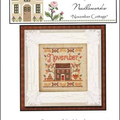 country cottage needleworks cottage of the month october cross stitch pattern 123stitch com houses cottages