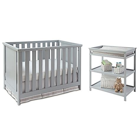 Cribs And Changing Tables Sets Imagio Baby By Westwood Design Casey 3 In 1 Convertible Crib And Changing Table Set In Grey