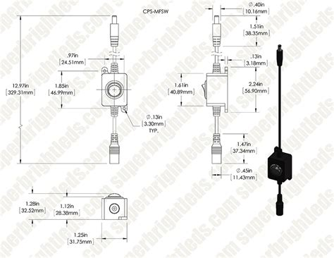 in line l switch cps mxfsw compact power supply to in line switch