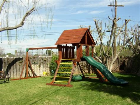 kids play swing set refurbished rainbow play set farmhouse kids playsets