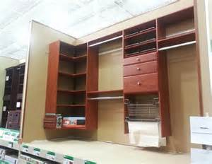 easy track closet organizer display in menards touchpoint360