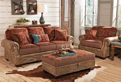 southwest living room furniture ranchero southwestern sofa collection