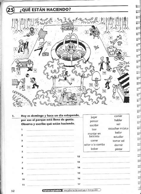 ISSUU - Vocabulario activo 1. Fichas con ejercicios
