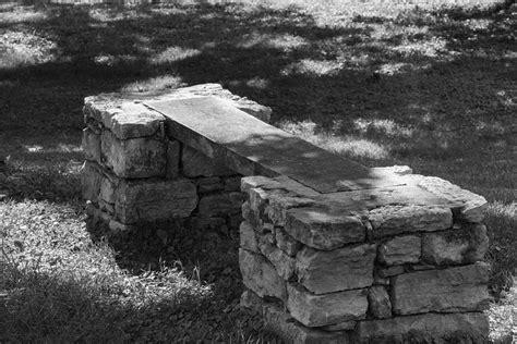 stone and wood bench 1800 s stone and wood bench photograph by robert hebert