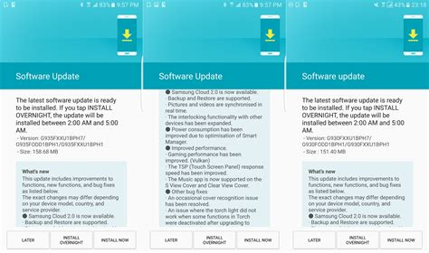 Update Samsung S7 Edge galaxy s7 and s7 edge get update in india with samsung