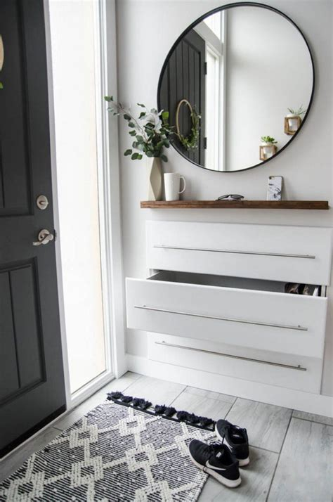 shoe storage ideas  simple ergonomic hallway