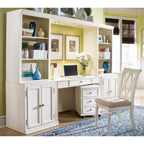 american drew camden buttermilk desk wall unit