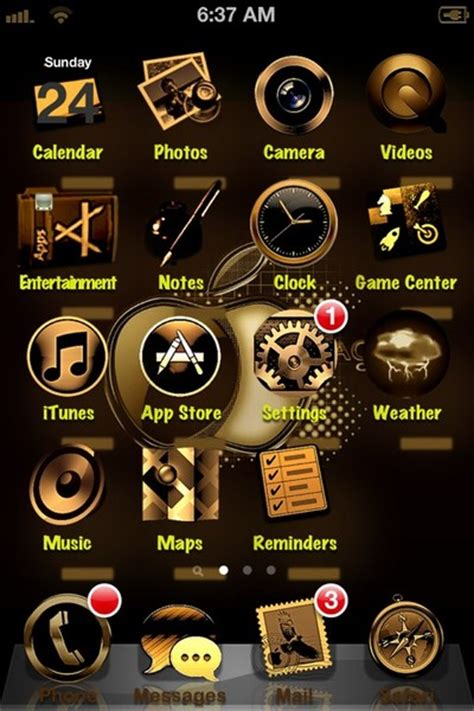 gold themes for iphone theme jailbreak iphone 4 images
