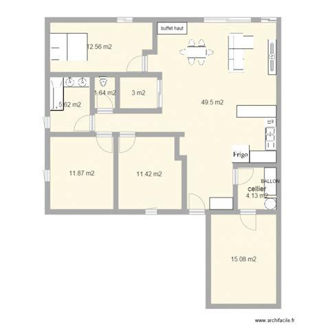Plan De Maison Facade by Maison 12m Facade Plan 9 Pi 232 Ces 115 M2 Dessin 233 Par Nour44