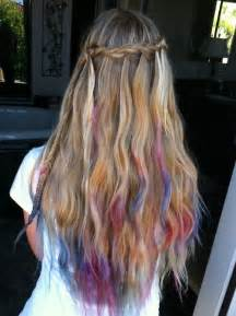 colored tips hair dip dyed hair color trend