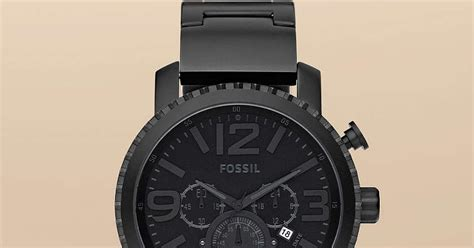 Jam Tangan Pria Cowok Fossil Time Leather B High Quality jam tangan pria fossil type jr1303