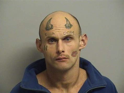 man s f k cops face tattoo makes him easily identified