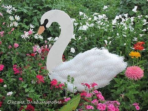 plastic garden decoration cool creativity diy swan garden decorations using