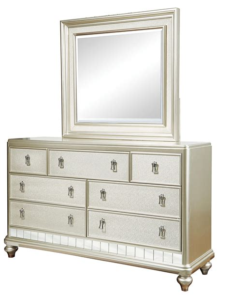 samuel 7 drawer dresser mirror set royal