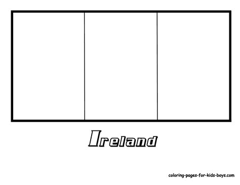 ireland flag coloring page az coloring pages