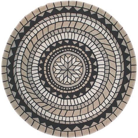 Black Circular Rug malabar beige and black circular textured rug 5436 183183