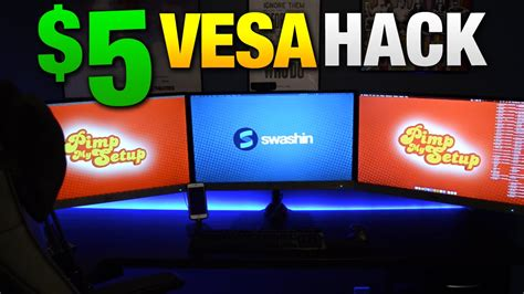 How to Mount Your Non VESA Monitor for $5   YouTube