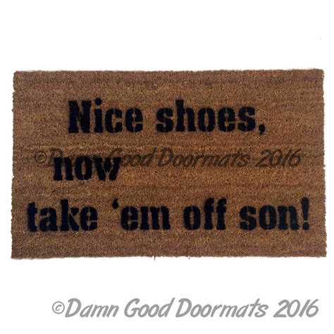 Leave Doormat Script Leave Your Worries And Your Shoes At The Door