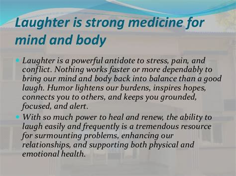 Laughter Is The Best Medicine Essay by Is The Best Medicine Essay