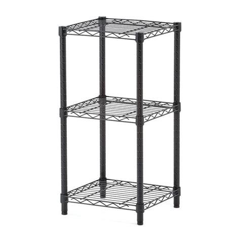 Honey Can Do 3 Shelf 14 In W X 30 In H X 15 In D Steel Home Depot Utility Shelves