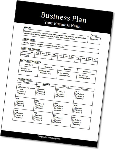 template  business plan     production