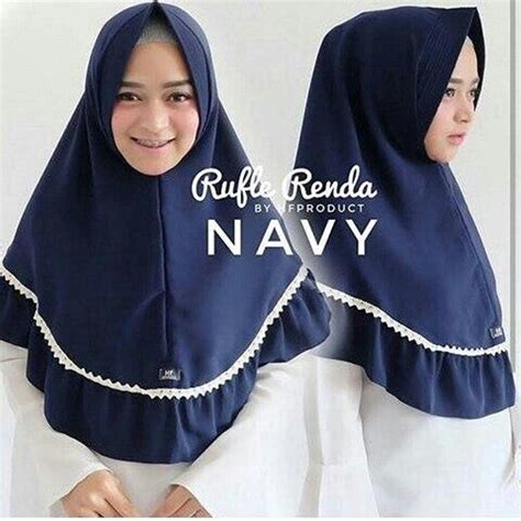 Ruffle Renda by Jilbab Instan Khimar Ruffle Renda Terbaru 2018 Simple