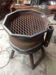 Cast Iron Outdoor Fireplace - recycled rim bbq fire pit the owner builder network