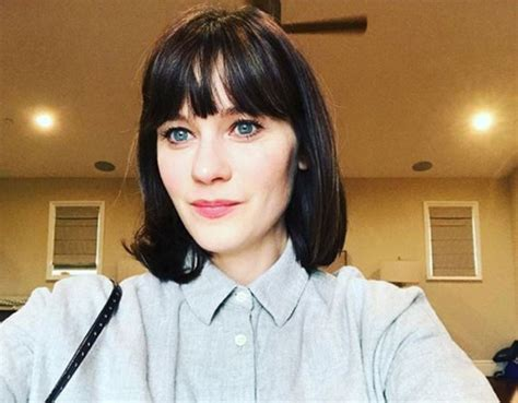Zooey Deschanel Hairstyle by Zooey Deschanel Shows New Hairstyle