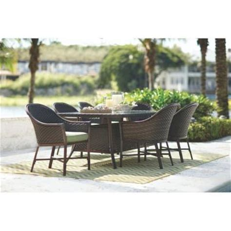 home decorators collection edinburgh 7 piece espresso home decorators collection lanai espresso 7 piece patio