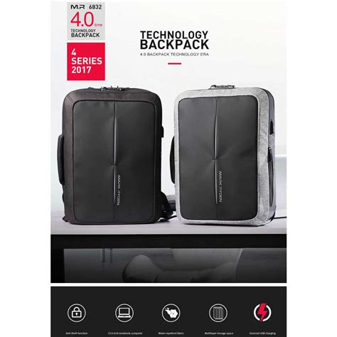 Price Tas Ransel Usb Port Anti Maling Tas Laptop Tas Anti Air ryden tas ransel anti maling dengan usb charger port mr6832 gray black