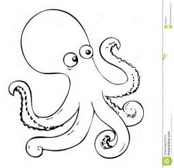 coloring book octopus stock photo image 4800640