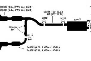 F150 Exhaust System Diagram 1998 Ford Explorer Exhaust Diagram Wedocable