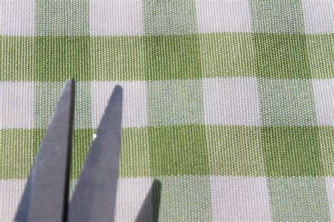 Kitchen Upholstery Fabric by Vintage Shabby Heavy Cotton Gingham Upholstery Kitchen