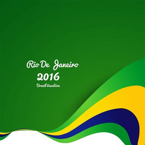 brazil colors brazil colors wavy background vector free