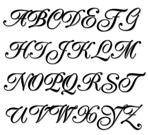 tattoo fonts and sizes embroidery alphabet popular script machine embroidery font