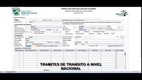 impuesto de vehiculos en cali 2016 liquidacion impuestos vehiculos valle 2016 liquidacion