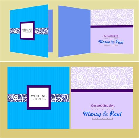 Wedding Card Design In Illustrator by Wedding Card Templates Classical Pattern Design Free