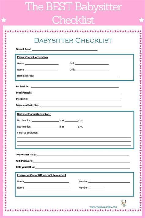 checklist for infants template driverlayer search engine