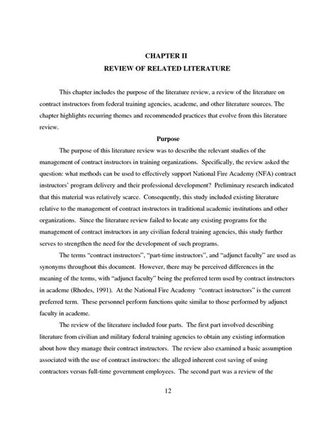 quantitative research paper review of related literature in thesis literature review