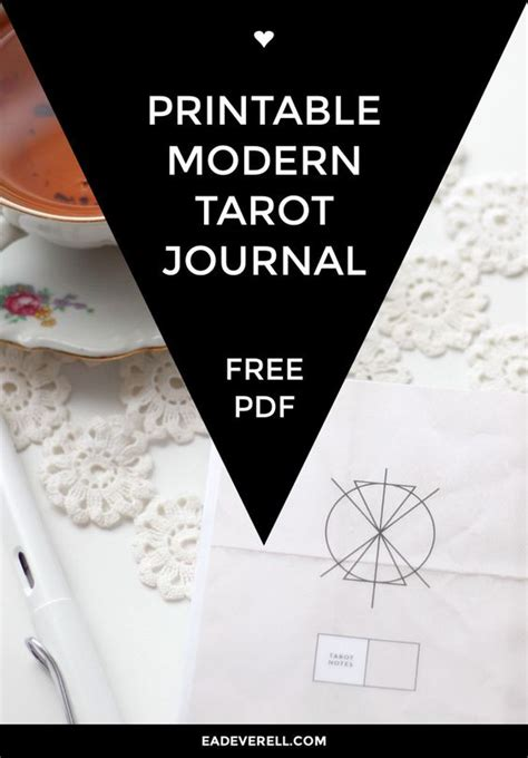 free printable tarot journal your life the personal and