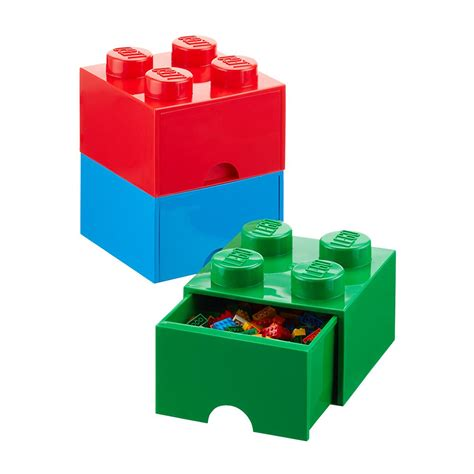 lego three drawer organizer red large lego storage drawer the container