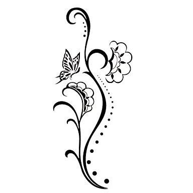 gambar tato tribal bunga clipartsco