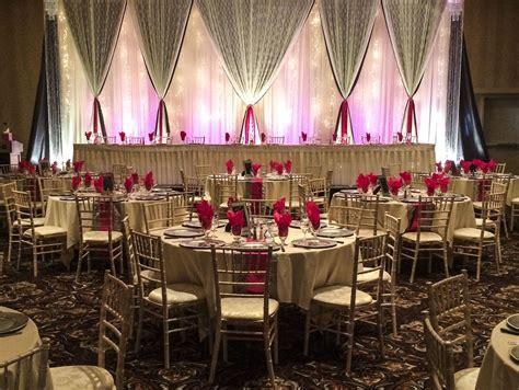 Hot Pink and Silver Wedding #lethbridgeeventrentals #