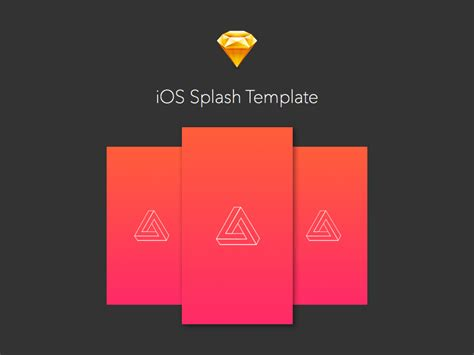 ios splash launcher image templates sketch freebie