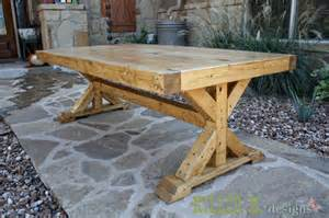 How To Make A Pedestal Table Base Chunky X Base Table A How To Killer B Designs